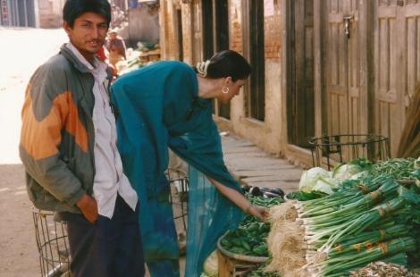 Produce Shopping, Kathmandu, Nepal